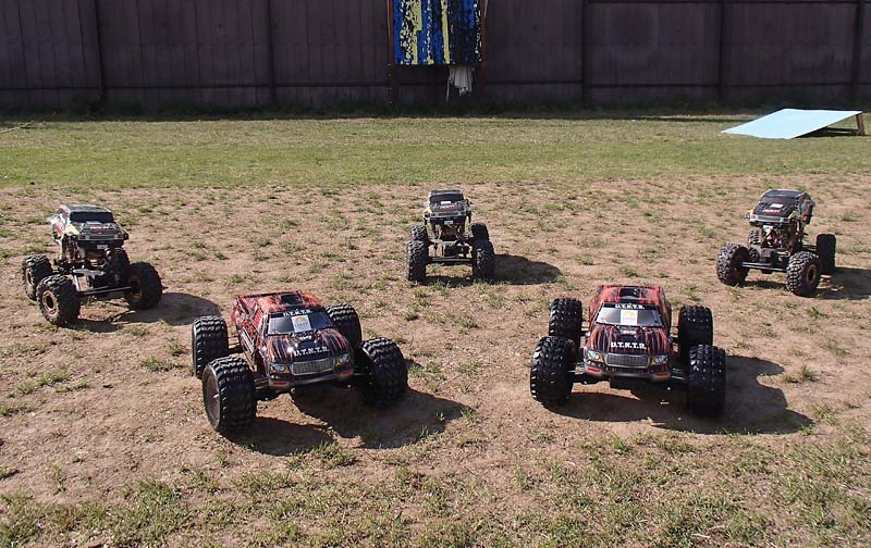 Ons wagenpark van 4WD RC-auto's